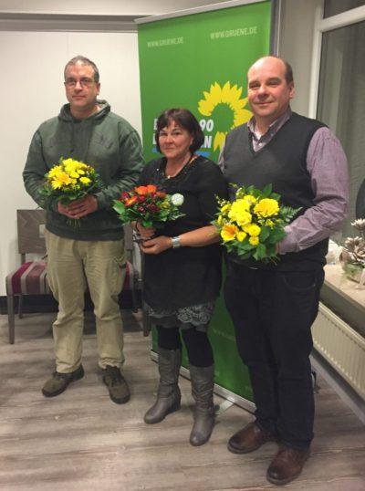 Die drei gewählten LTW-Direktkandidat*innen (v.l. Jörg Pyzalla, Angelika Schwab und Oliver Held)