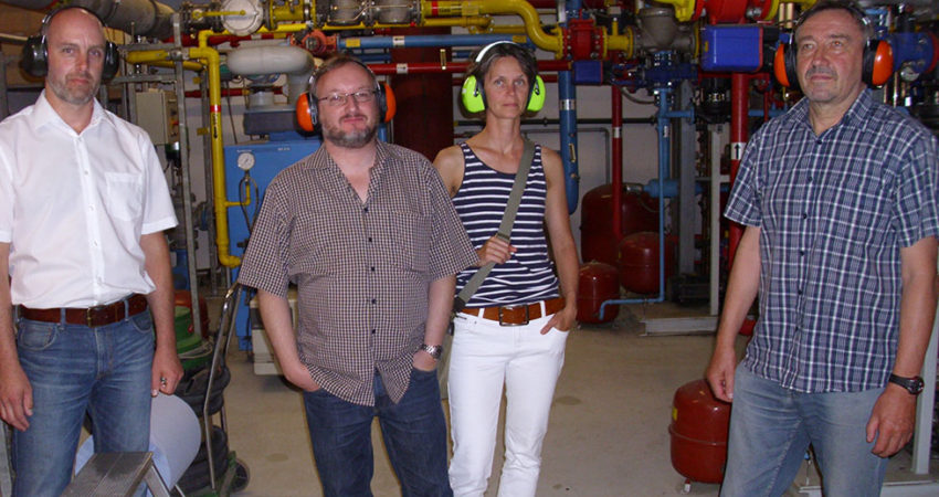 Besuch in der Biogasanlage