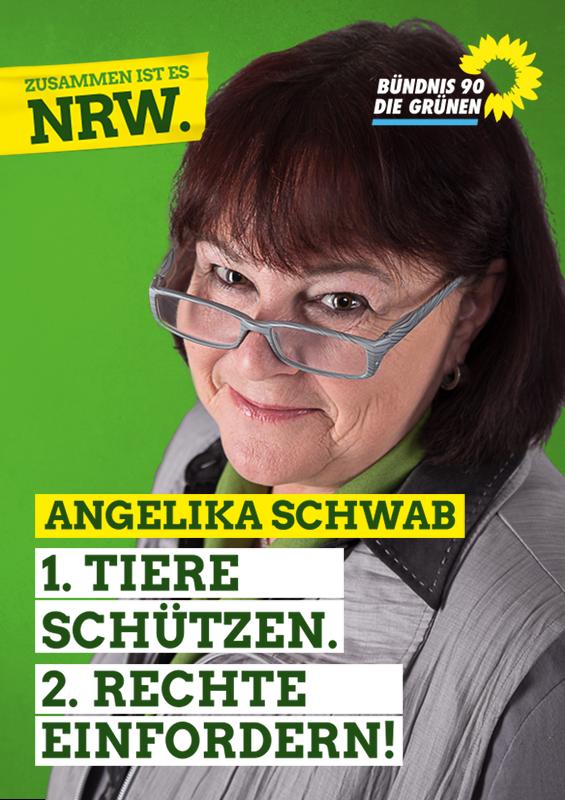 Angelika Schwab: 1. Tiere schützen - 2. Rechte einfordern