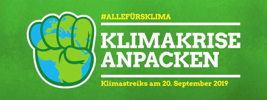 Klimakrise anpacken, Klimastreik am 20.09.2019