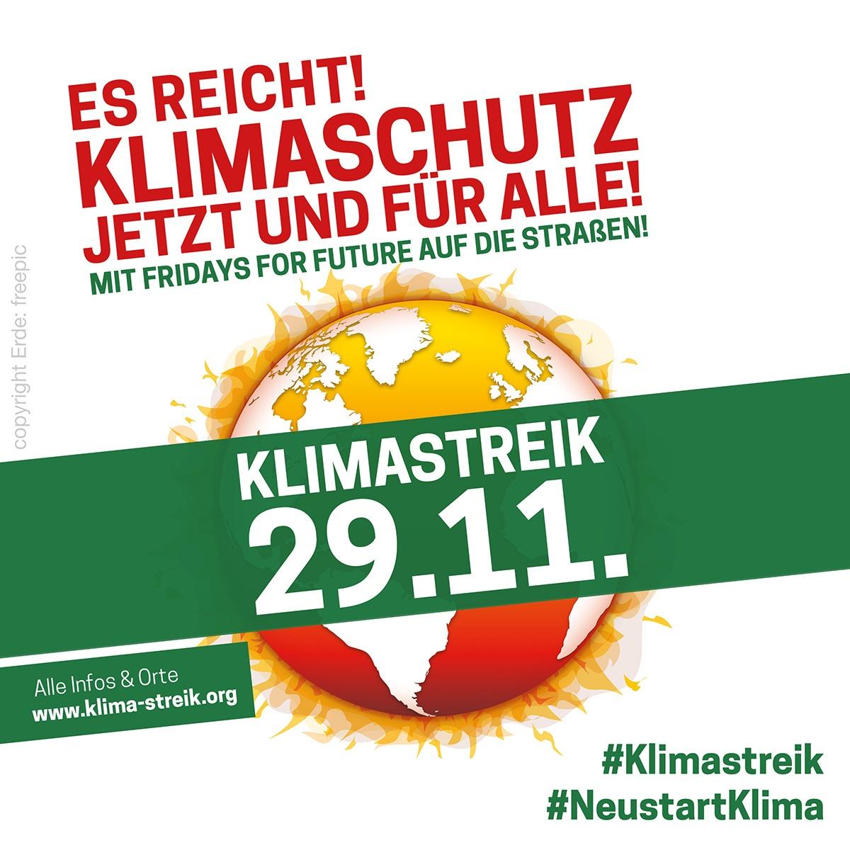 Klima-Streik am 29.11.2019