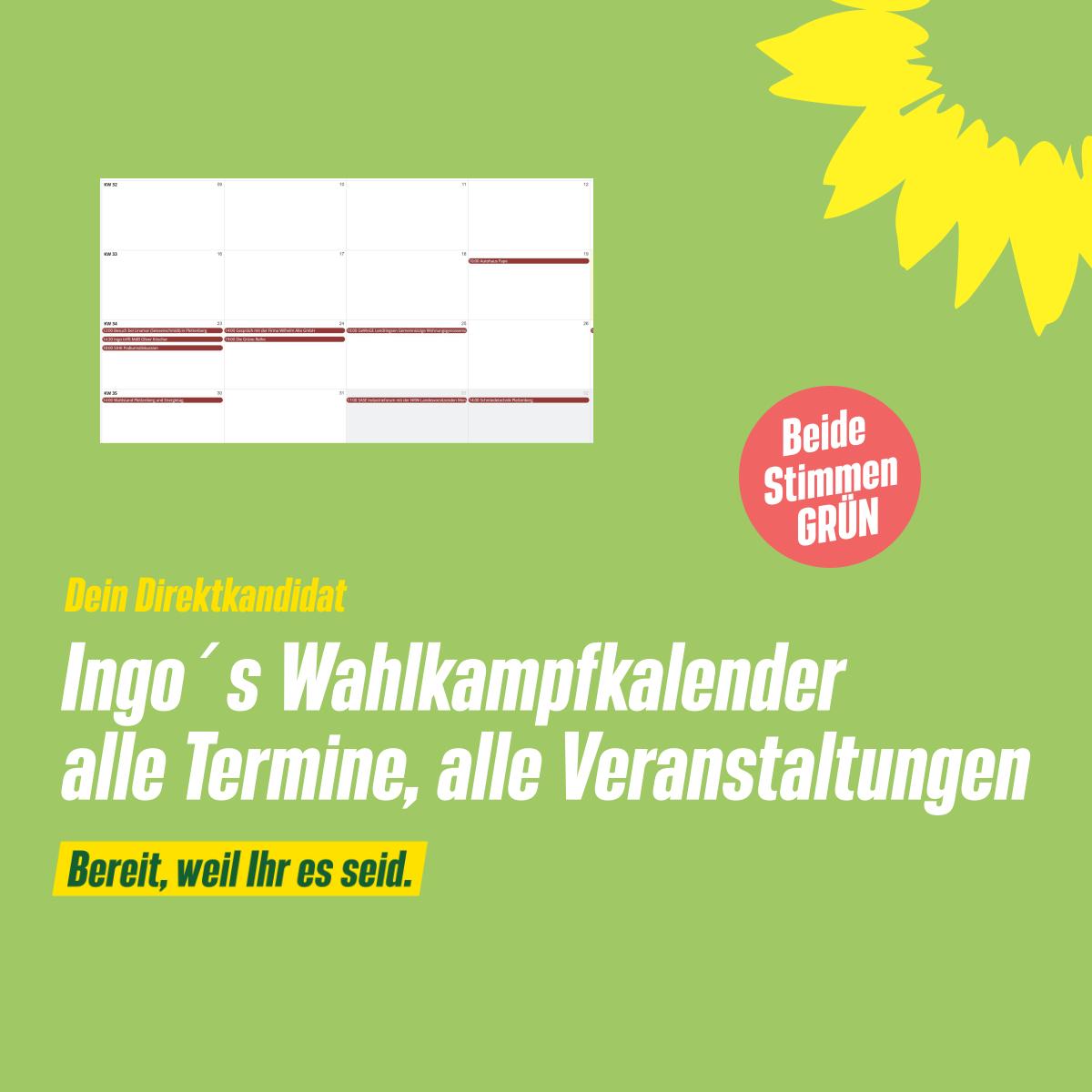 Ingos Wahlkampfkalender