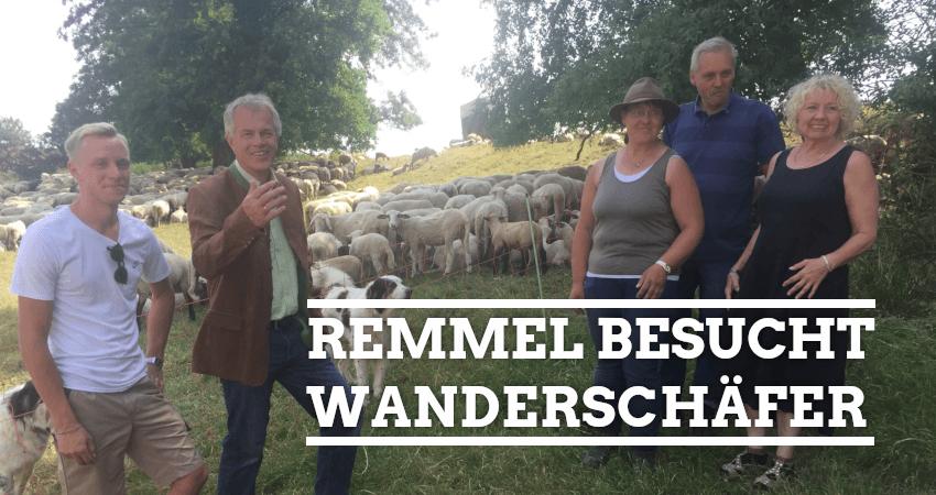 Foto: Johannes Remmel besucht Wanderschäfer in Iserlohn