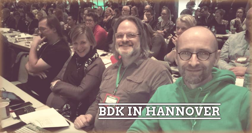 Bundesdelegiertenkonferenz (BDK) in Hannover vom 26.-27. Januar 2018. (v.R. Andreas Stach, Detlef Jungmann, Judith Köster)