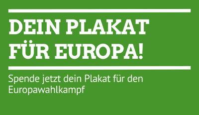 Spende ein Plakat zur Europawahl