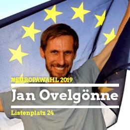 Jan Ovelgönne Listenplatz 24 bei der Europawahl 2019